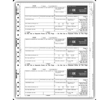 Continuous 5498 Tax Form