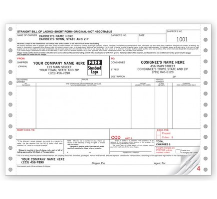 Continuous Bill of Lading Forms