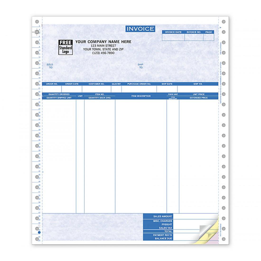 Continuous Invoice Parchment