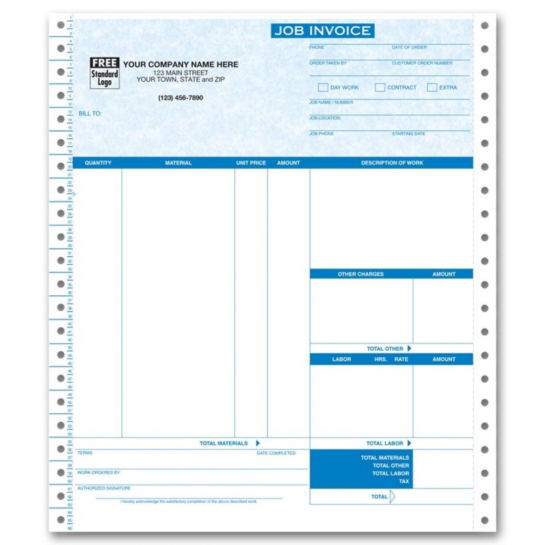 Continuous Job Invoice - Parchment