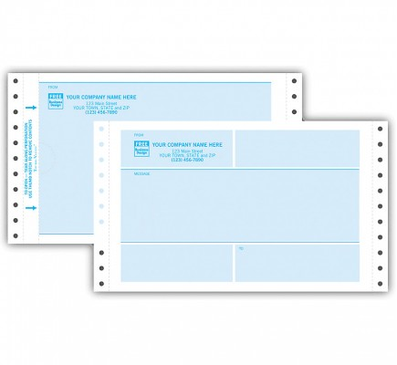 Continuous One-Way Self-Mailer