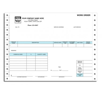 Continuous Pest Control Work Order