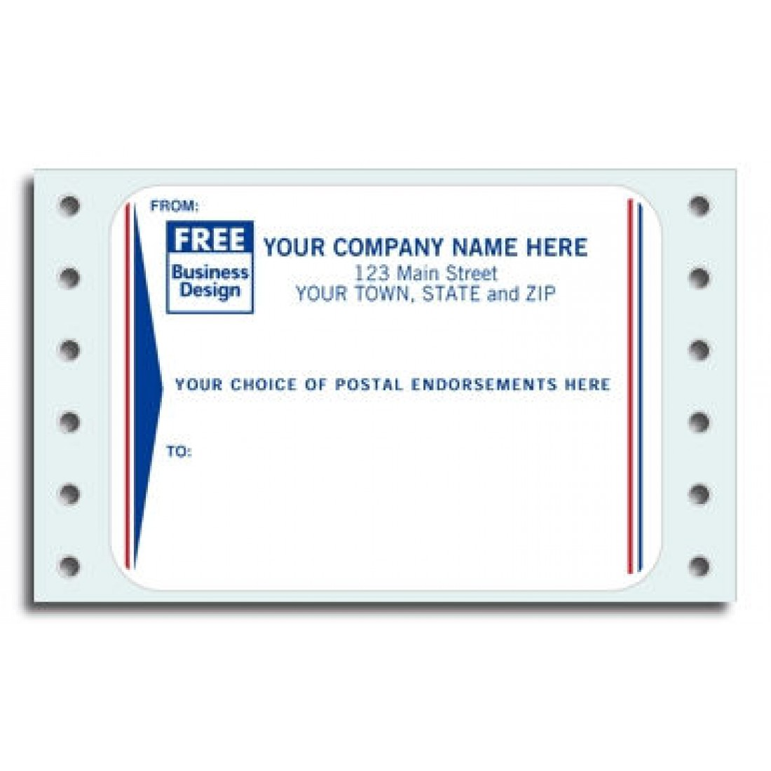 Continuous Postal Endorsement Labels