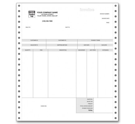 Continuous Product Invoice for Peachtree
