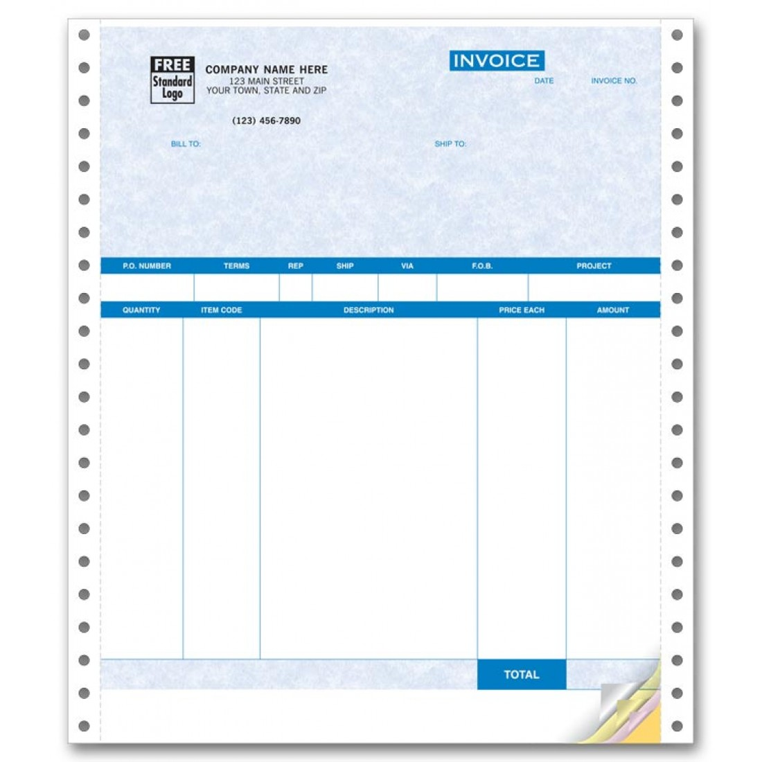 Continuous Product Invoice with Packing List - Parchment compatible with QuickBooks