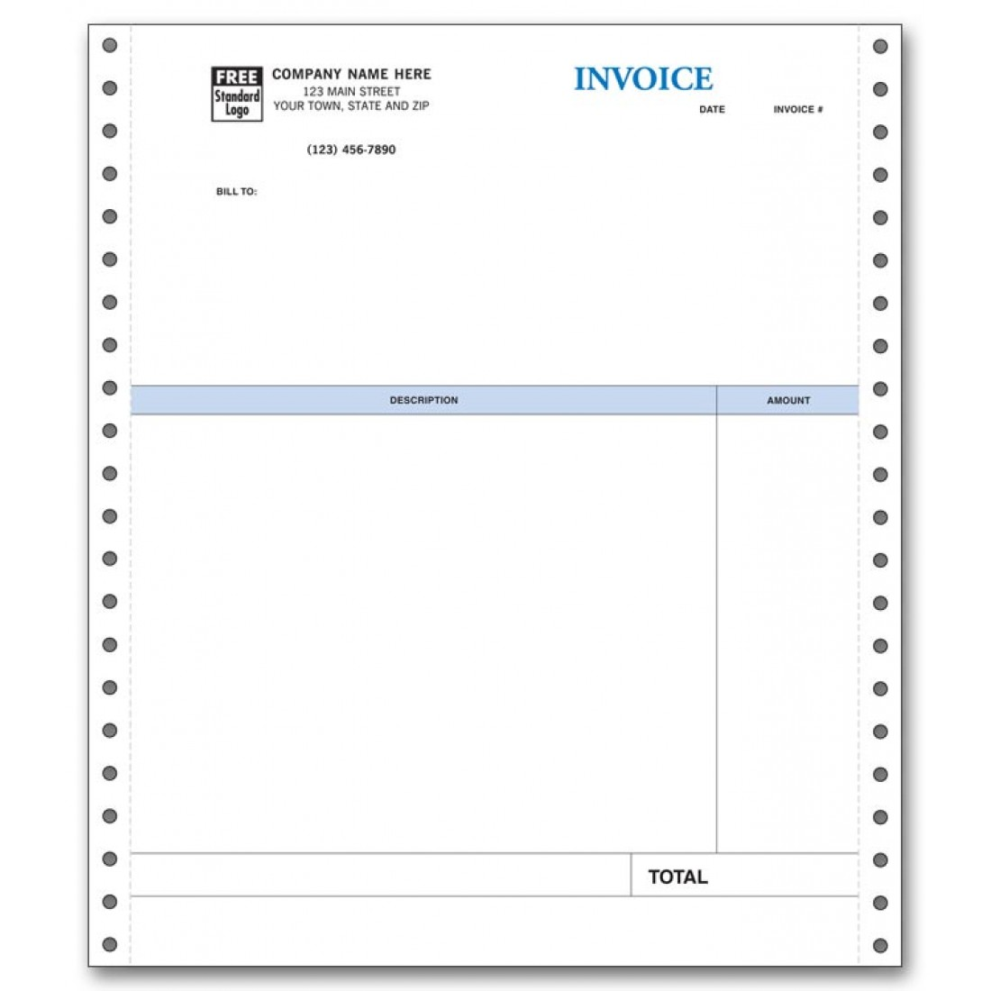 Continuous Professional Invoice compatible with QuickBooks
