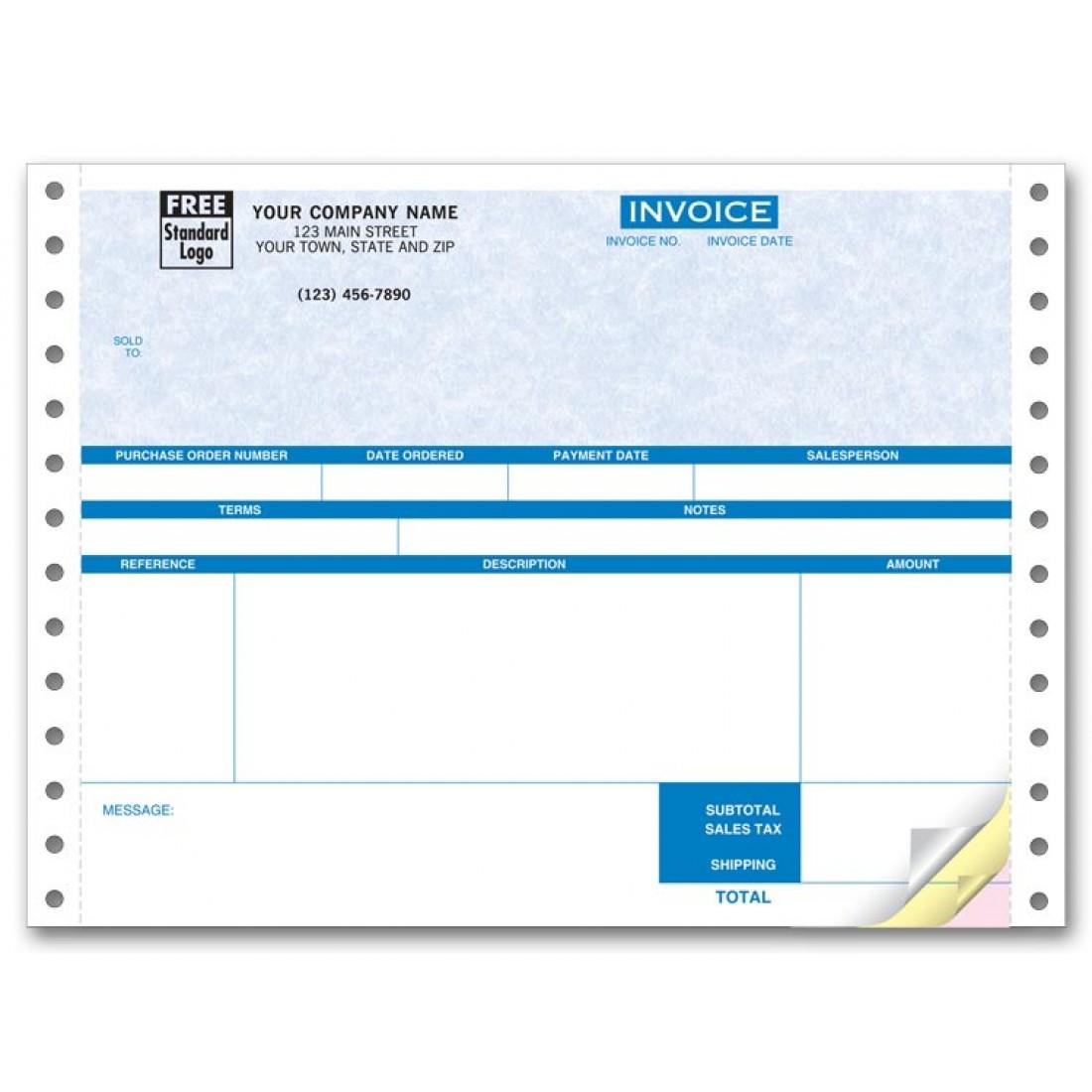 Continuous Service Invoice for One-Write Plus - Parchment