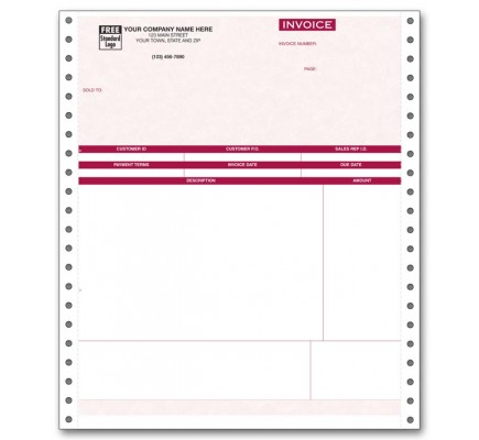 Continuous Service Invoice for Peachtree - Parchment