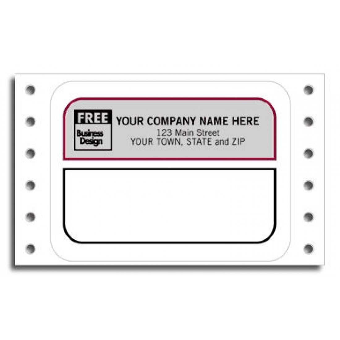 Continuous Smudge Mailing Labels