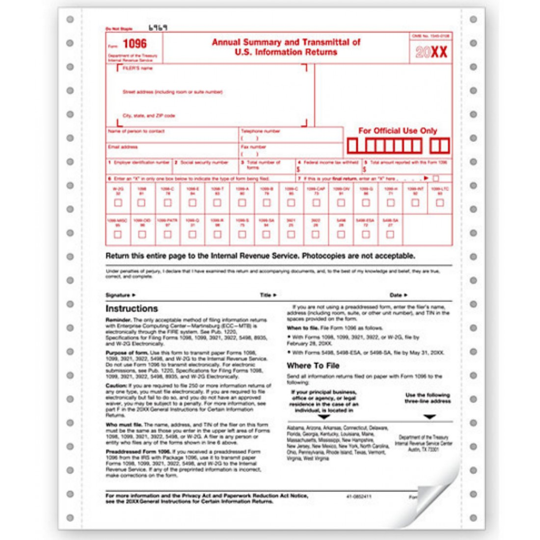 Summary & Transmittal Sheet