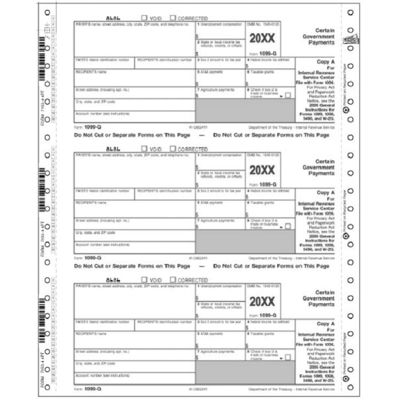 Continuous Tax Form 1099 G