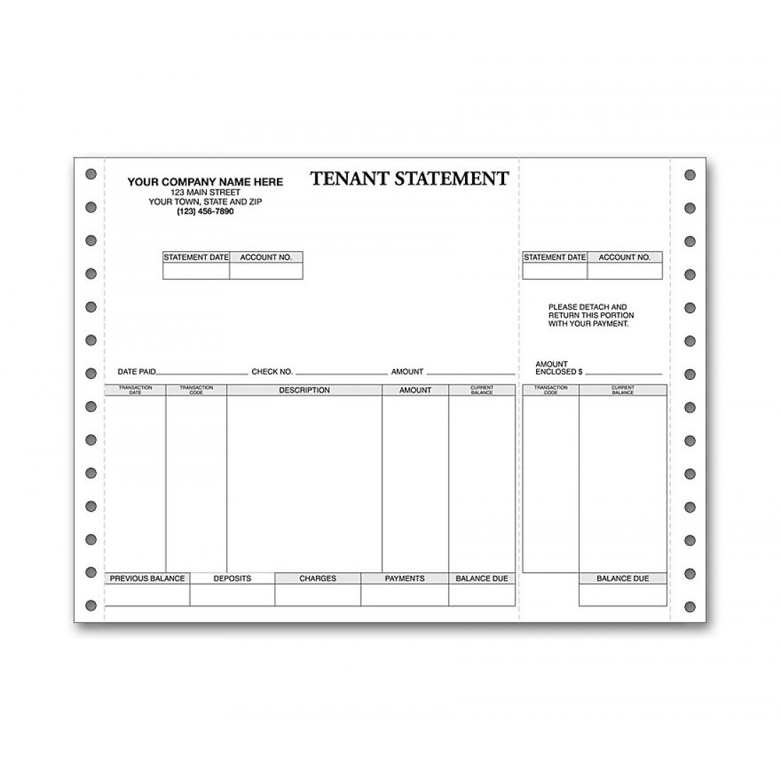 Continuous Tenant Statement