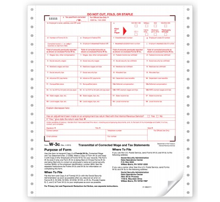 Continuous W 3C Tax Forms