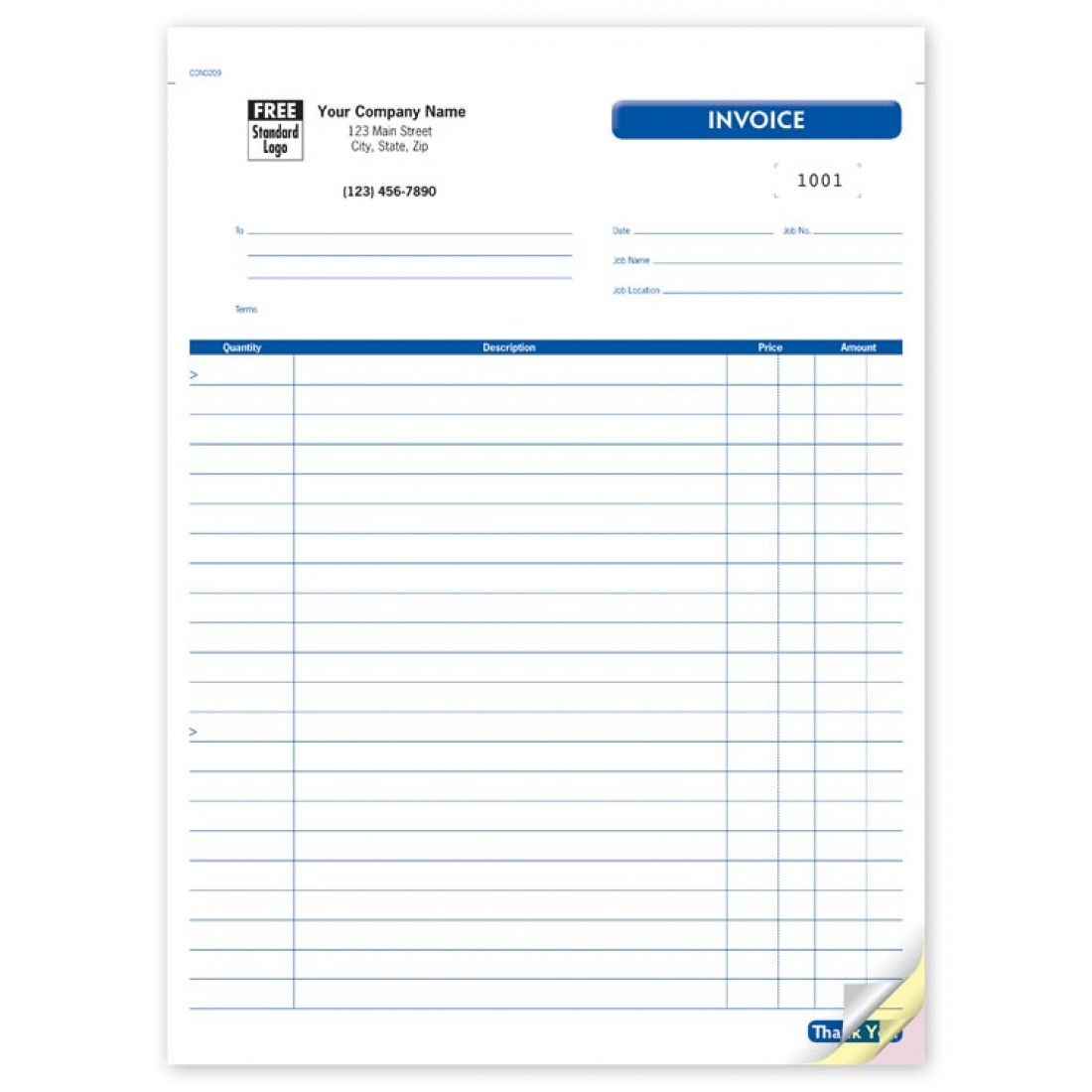 Contractor Job Invoice Forms