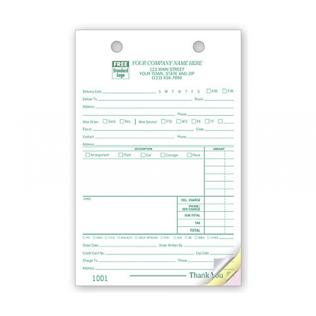 Custom Floral Register Forms