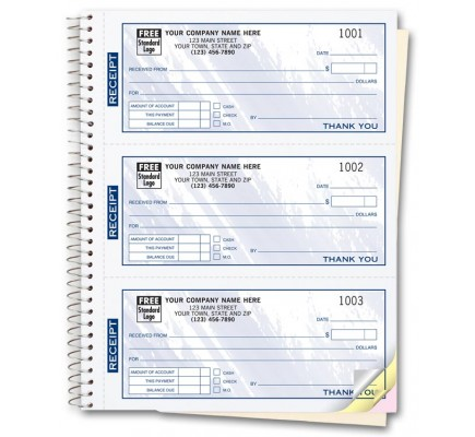 Custom Receipt Books- Color Collection