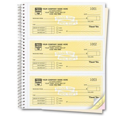 Custom Receipt Books