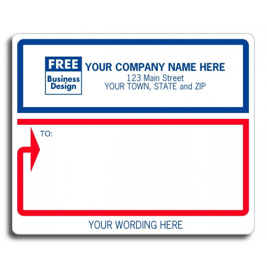 custom wordings mailing labels free shipping