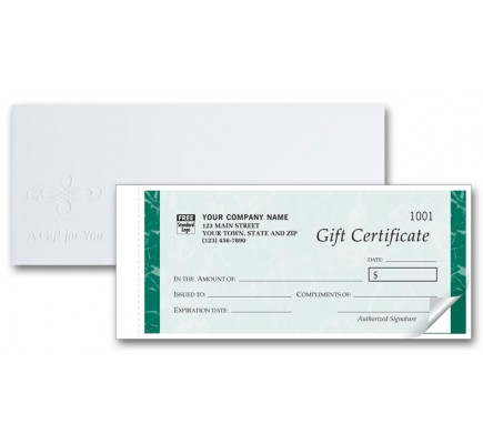 Customized Gift Certificate