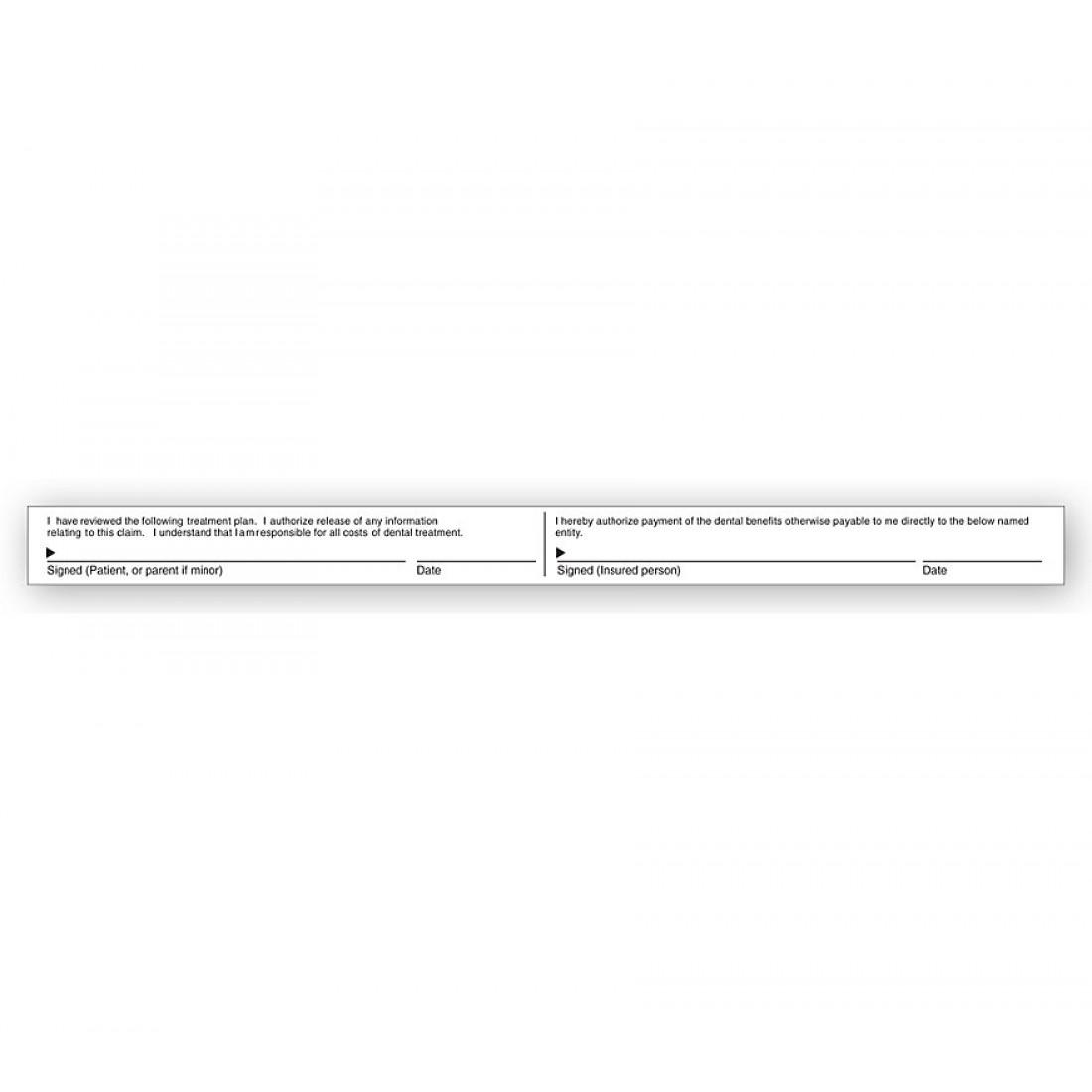 Dental Claim Form Signature Labels