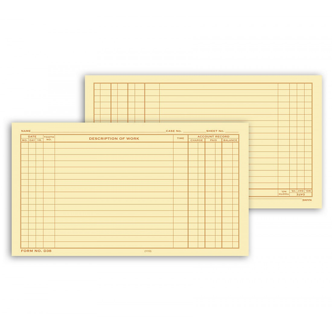 Dental Continuation Form For Folder Style Records