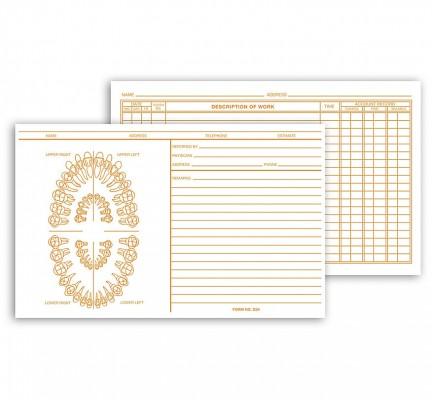 Dental Exam Card File Record Unnumbered