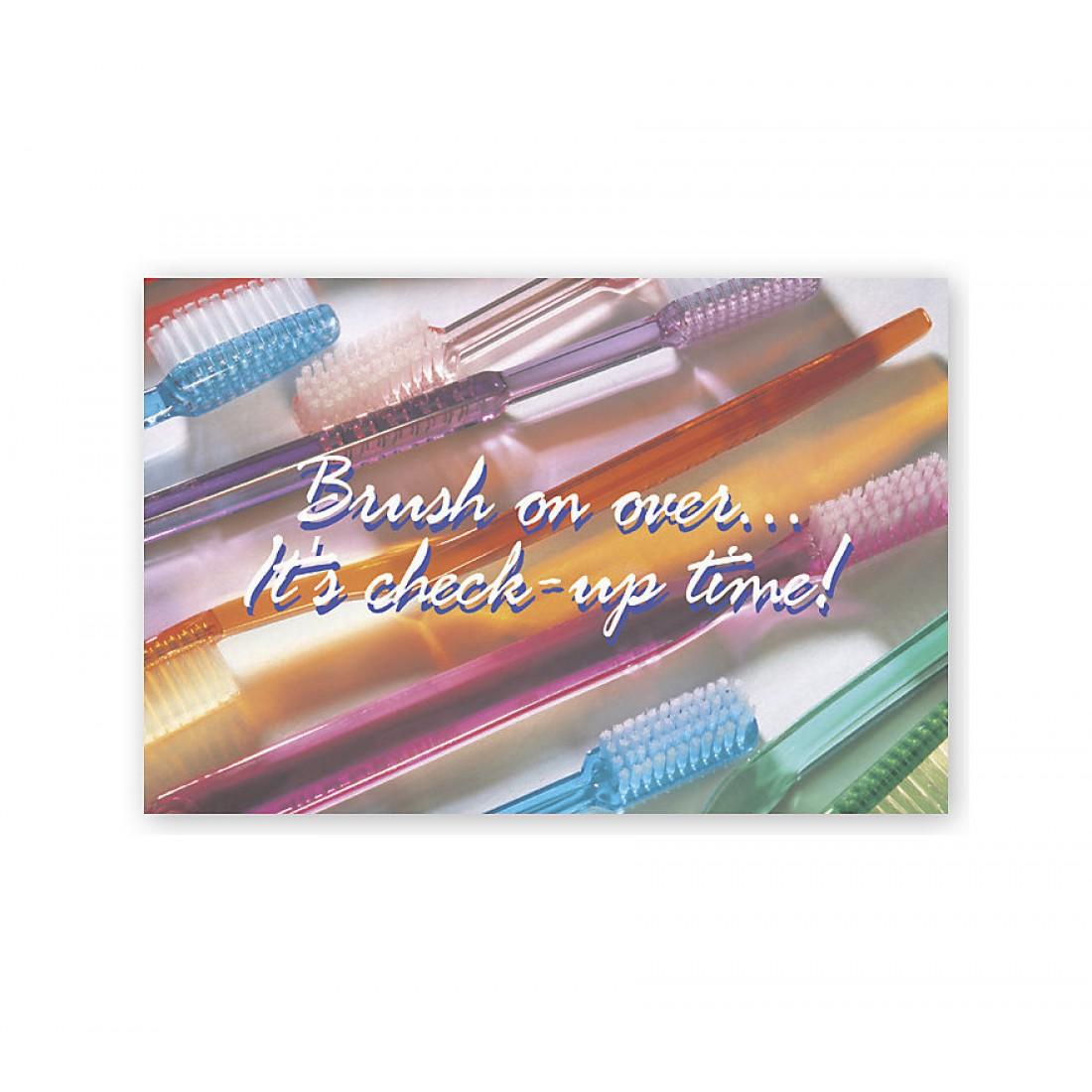 Dental Laser Postcards Brush On Over It's Check Up Time