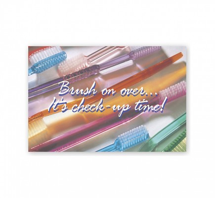 Dental Laser Postcards Brush On Over It's Check Up Time
