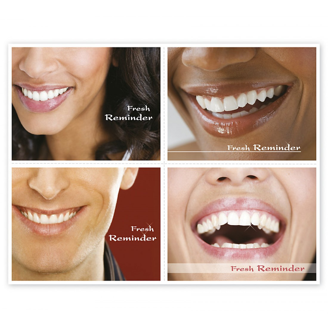 Dental Reminder Card Fresh Reminder Laser Postcard