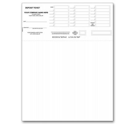 image regarding Quickbooks Printable Deposit Slips referred to as 80200, Deposits - Laser or Inkjet suitable with QuickBooks