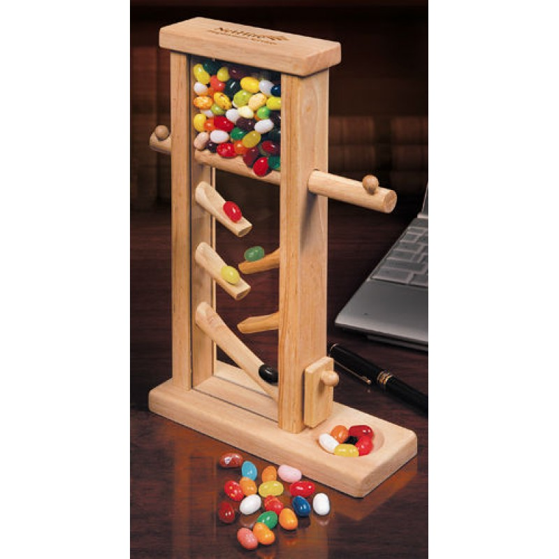 Ajo working: Wooden jelly bean dispenser plans