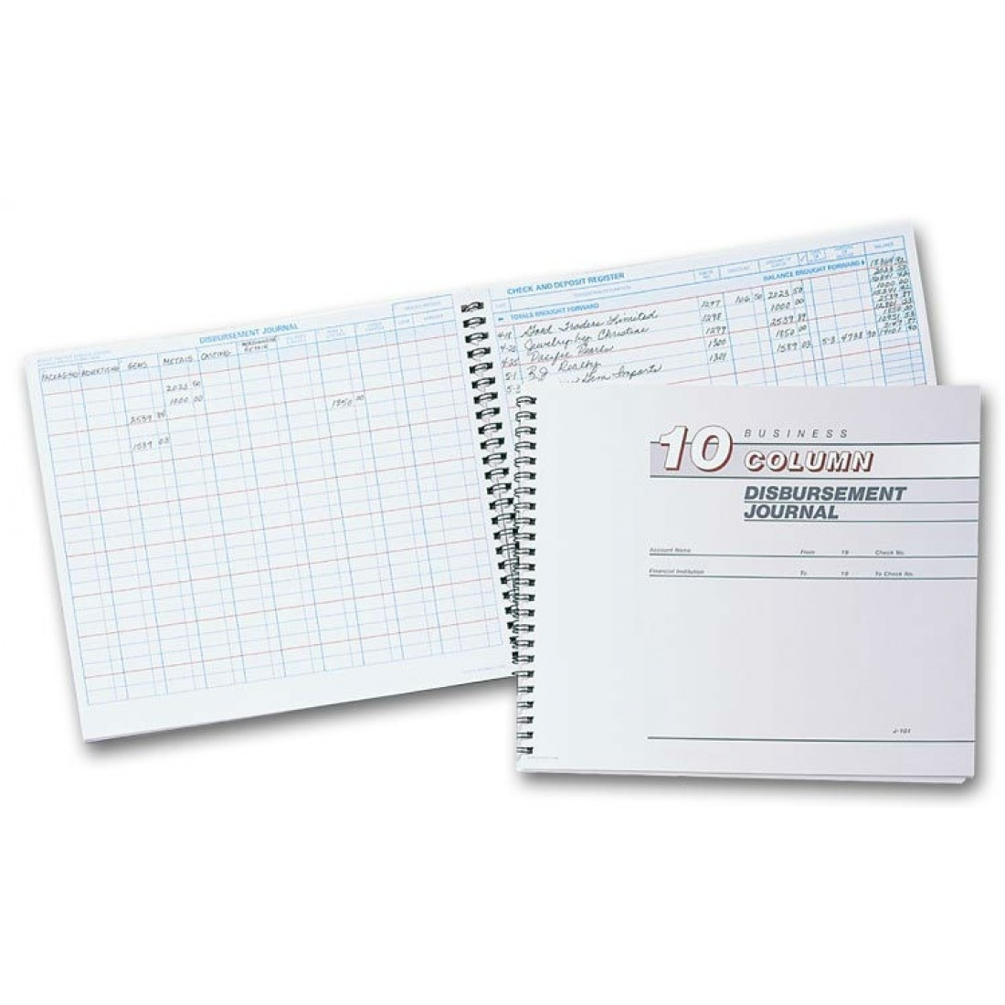 126051N, Disbursement Journal - 10 Columns