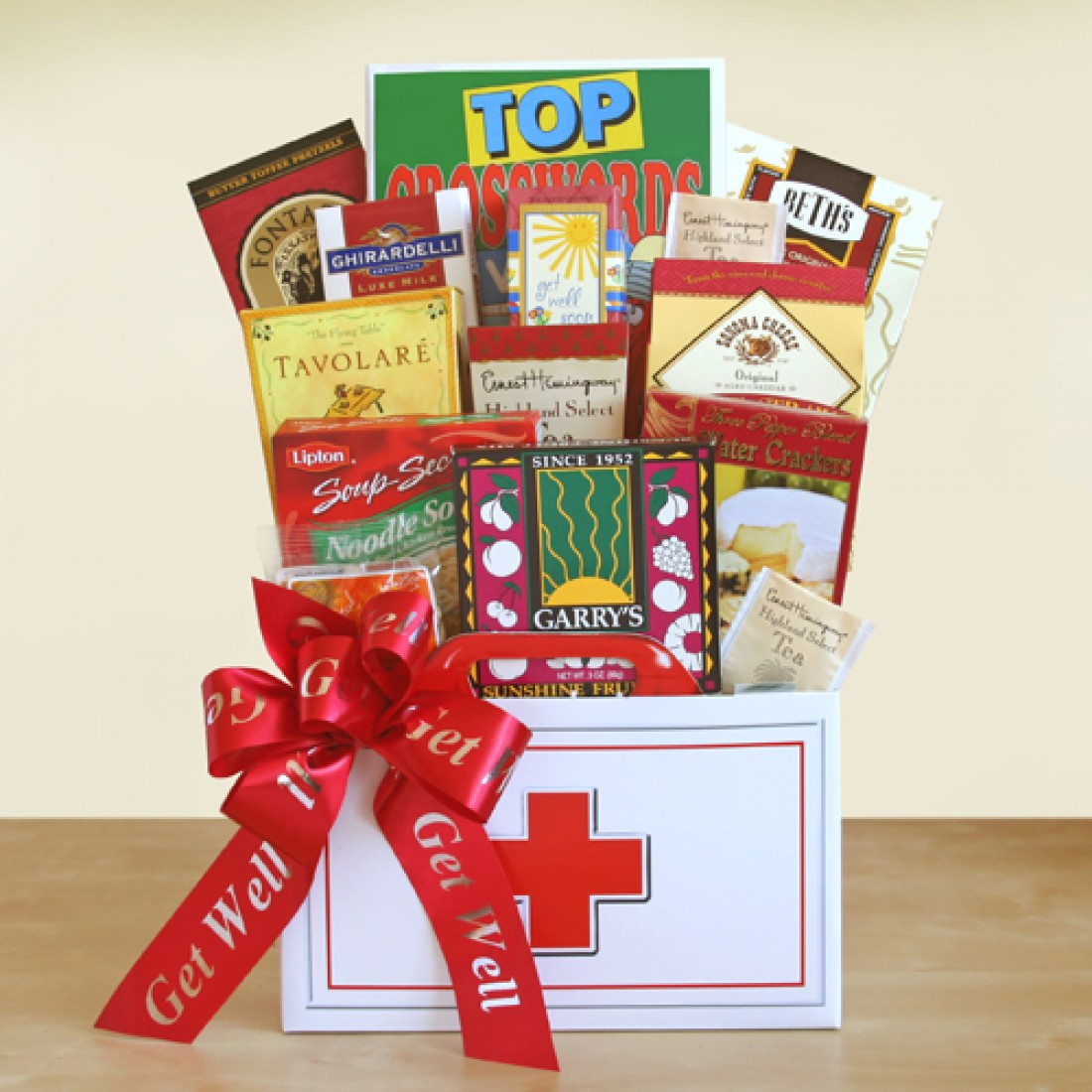 Doctors orders get well gift basket free shipping