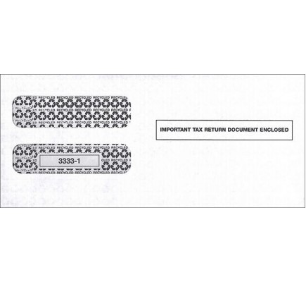 Double Window Envelope For Tax Forms