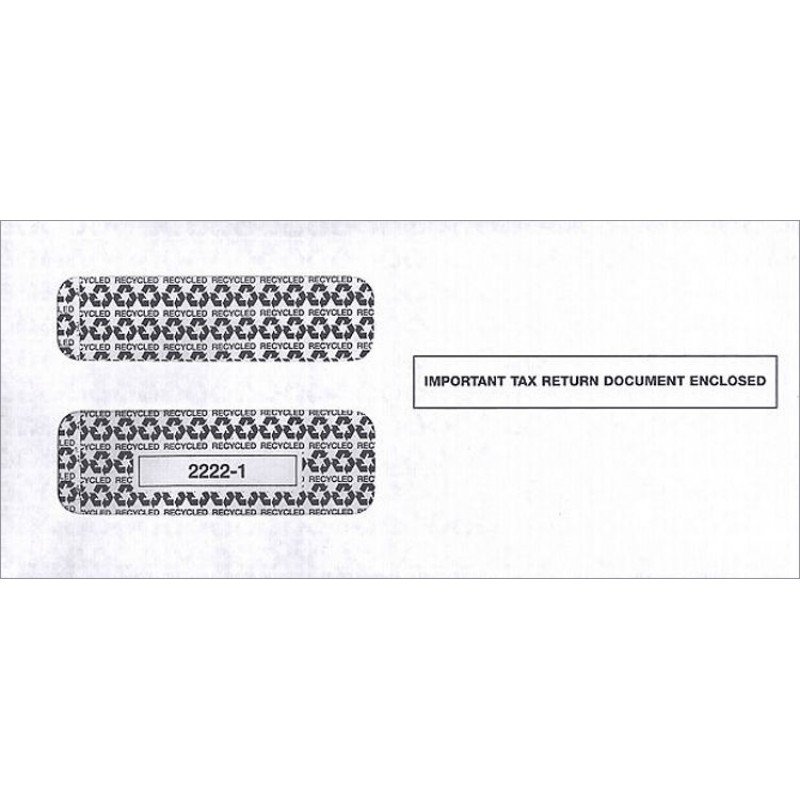 double window envelope irs tax forms 1099 free shipping