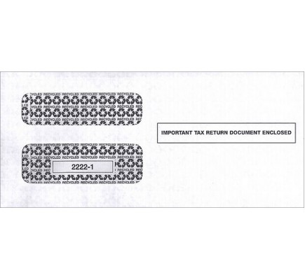 Double Window Envelope IRS Tax Forms 1099
