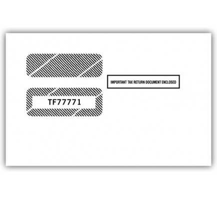 Double Window Envelope Tax Forms 1099 R