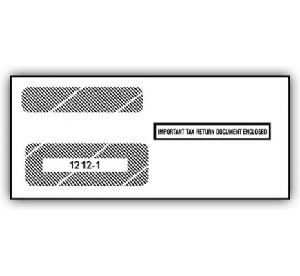 Double Window Envelope Tax Forms 1099 S