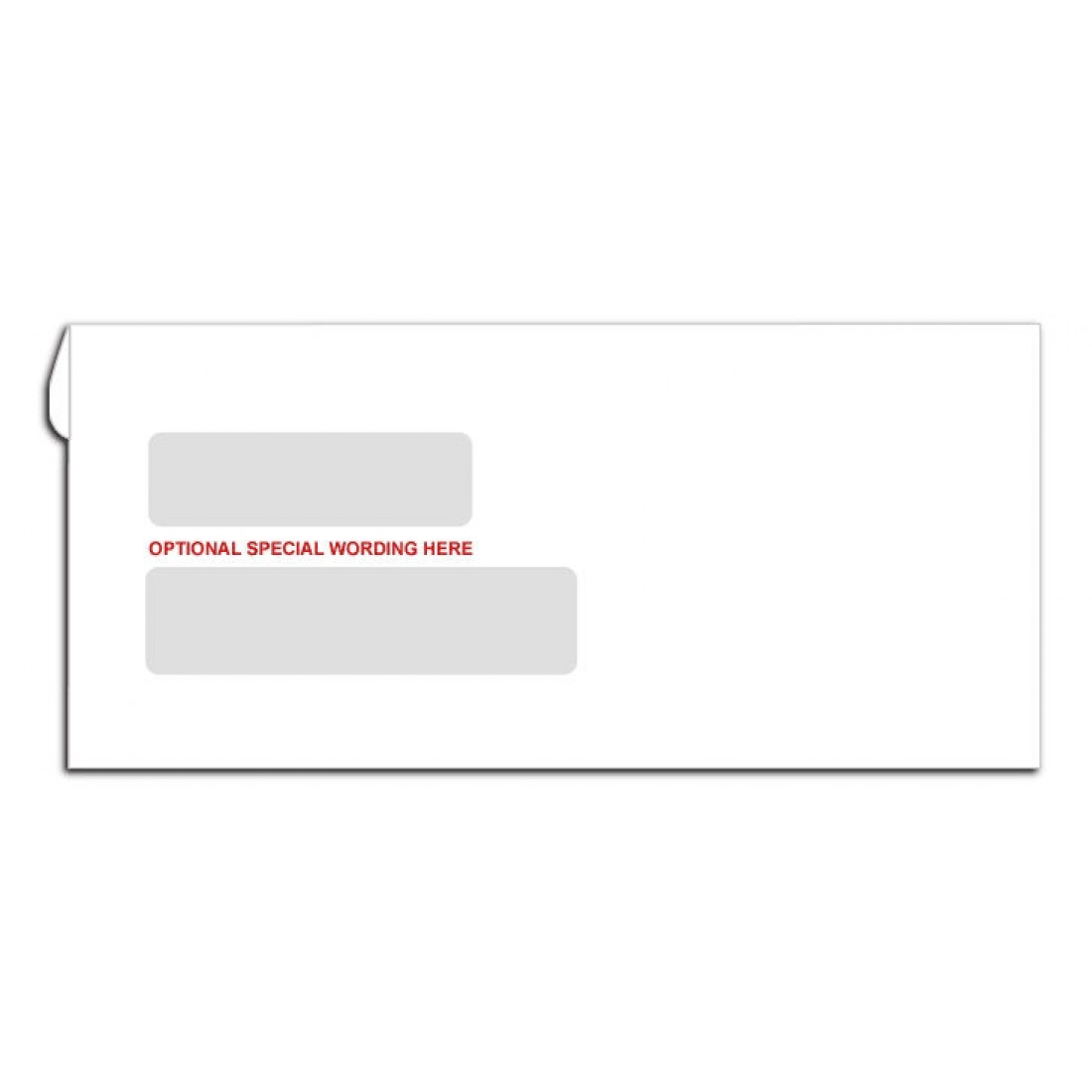 Double window envelopes classic collection free shipping for Window envelopes