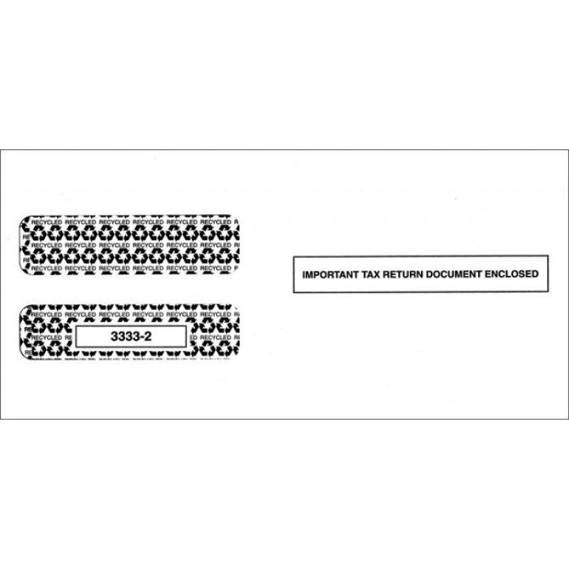 Double Window Self Seal Envelope for W 2 tax form