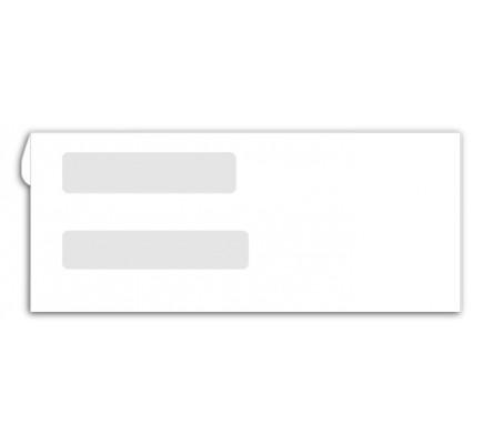 Double window envelopes for checks