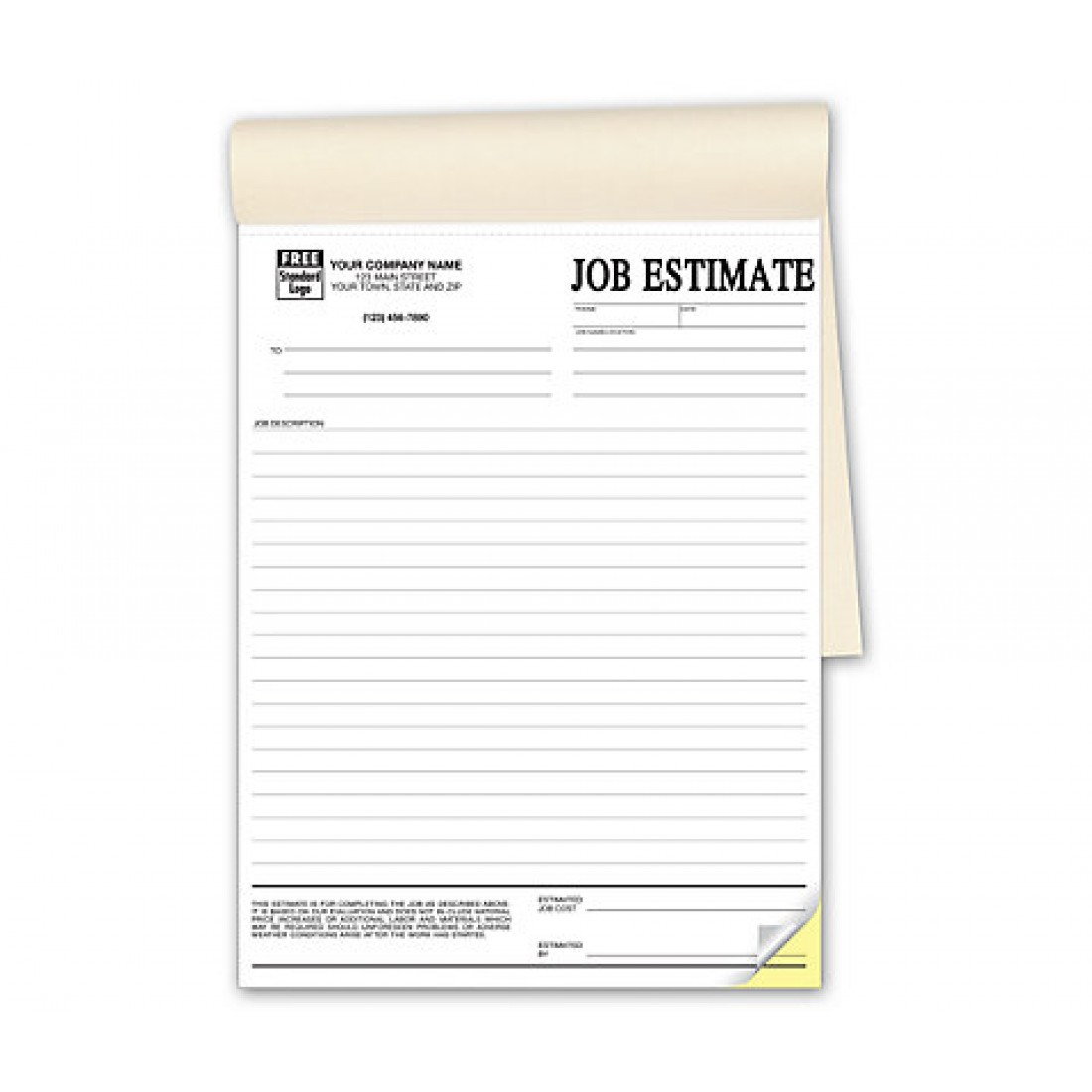 Estimate Forms Customized Estimate Forms General Standard – Job Estimate Sheet