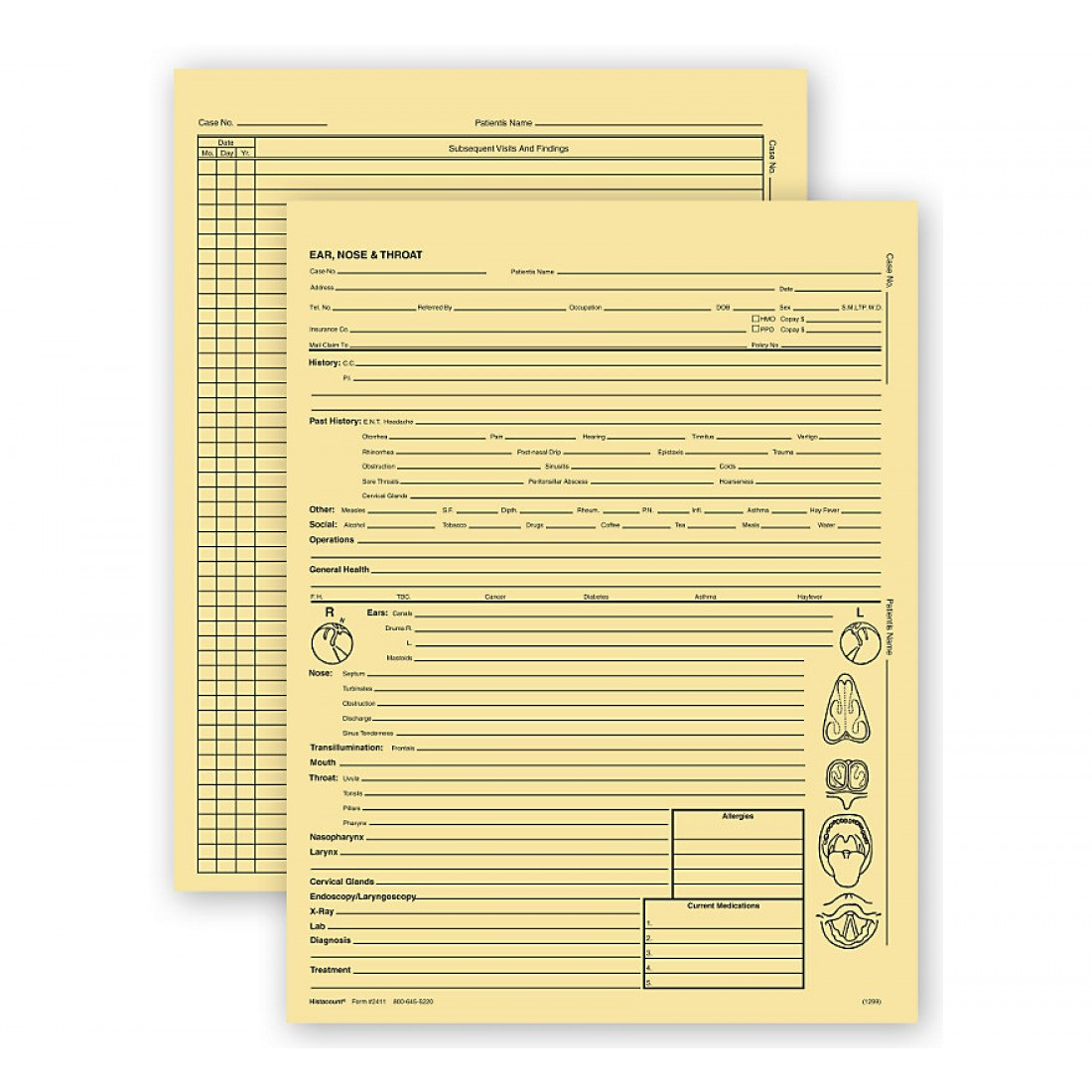 Ear Nose & Throat Specialty Exam Records Letter Style