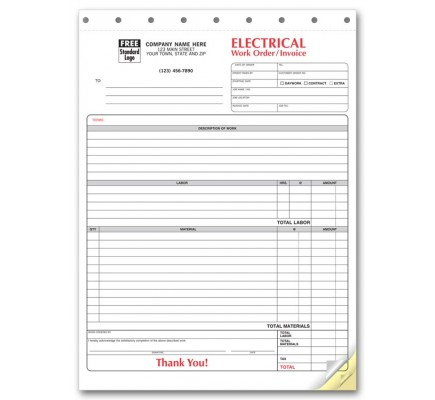Electrical Work Orders with Manilla Tag