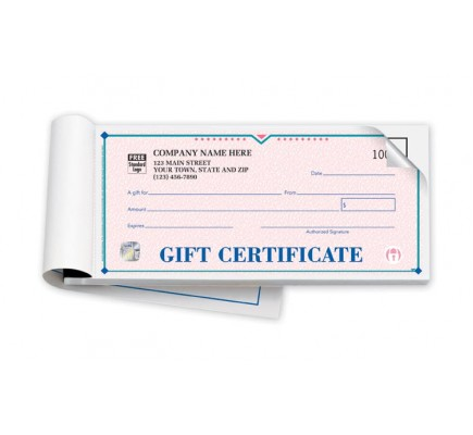 Elegant St. Croix Booked Gift Certificate with Duplicate