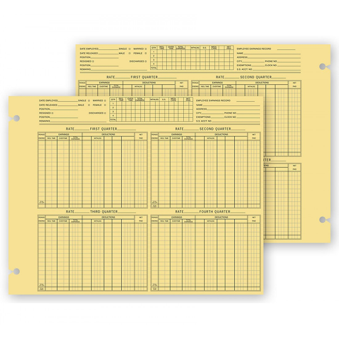 Employee Earnings Forms, Loose Leaf