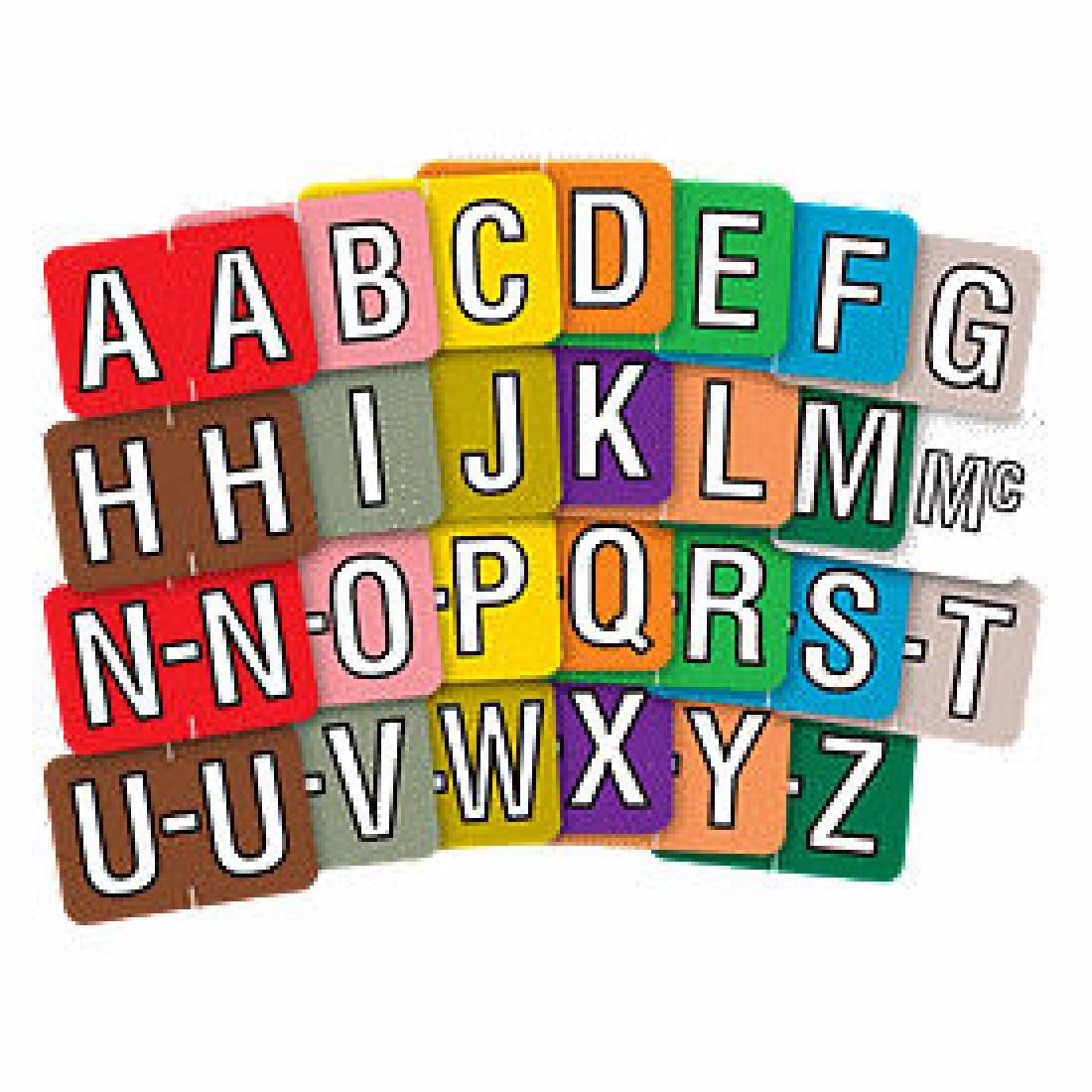 End Tab Alpha Label (Item #M196) - Business Checks Supplies  - Business Checks