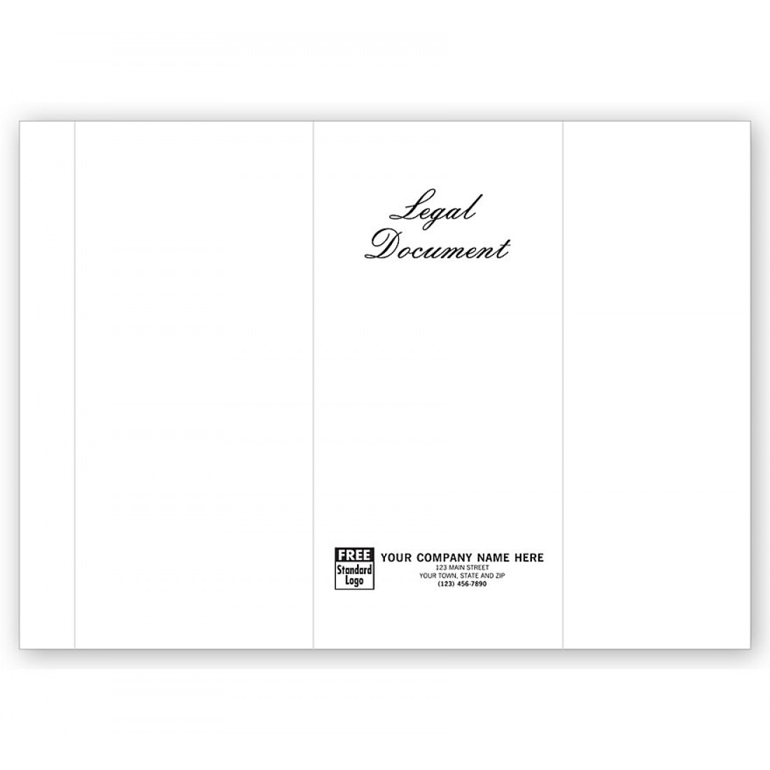 Engraved Legal Document Covers