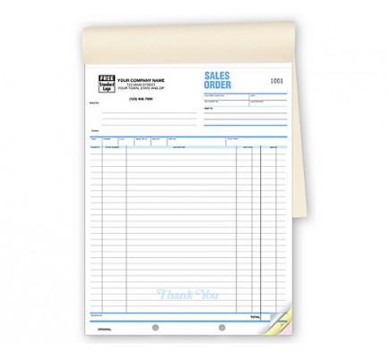 Extra Long Sales Order Forms Carbonless
