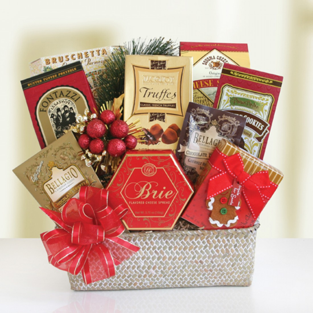 Festive holiday food baskets free shipping for How to make christmas food baskets